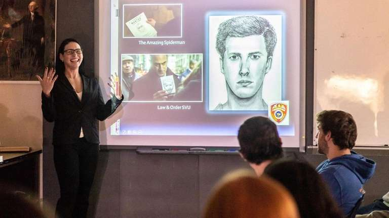 Danielle Gruttadaurio, a Suffolk County police forensic artist, spoke Tuesday