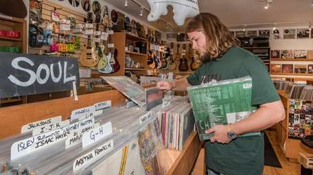 Kevin Foran works at Amagansett's Innersleeve Records, which
