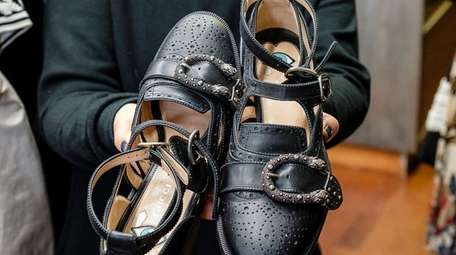 Owner Beth Honig displays Gucci Queer Core Brogue