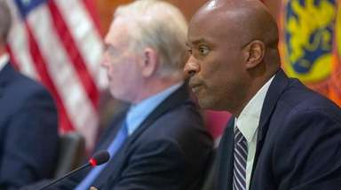 Nassau County Legis. Kevan Abrahams (D-Freeport) during the