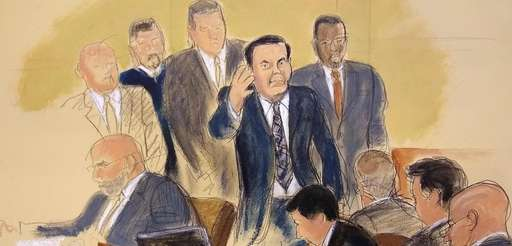 "Joaquin ""El Chapo"" Guzman, surrounded by US Marshals,"