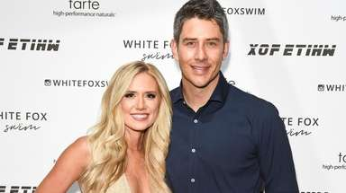 Lauren Burnham and fiance Arie Luyendyk Jr., pictured