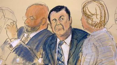 """Joaquín """"El Chapo"""" Guzmán Loera with his defense"""