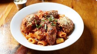 "Savory ""Sunday sauce"" includes braciola, meatball and sausage"