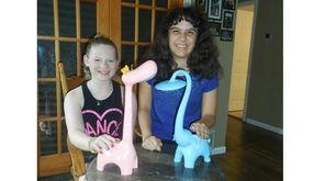 Kidsday reporters Delaney Unger, left, and Victoria Corallo