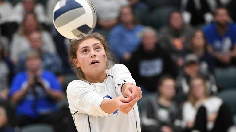 Long Beach's Grace Rosenberg sets the ball against