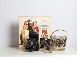 Unique vintage gifts such a Frank Sinatra album,