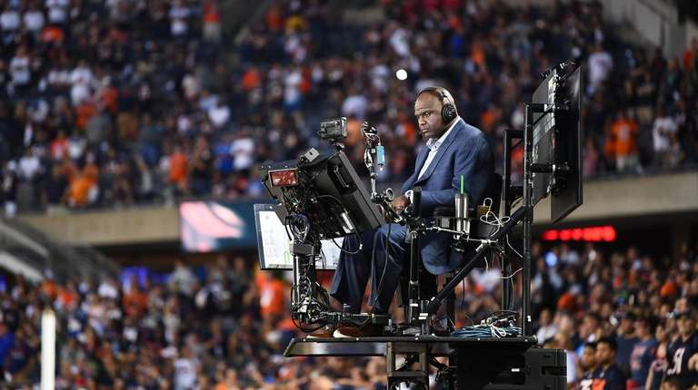 """Booger McFarland during a """"Monday Night Football"""" game"""