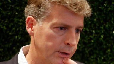 Yankees owner Hal Steinbrenner speaks to reporters on
