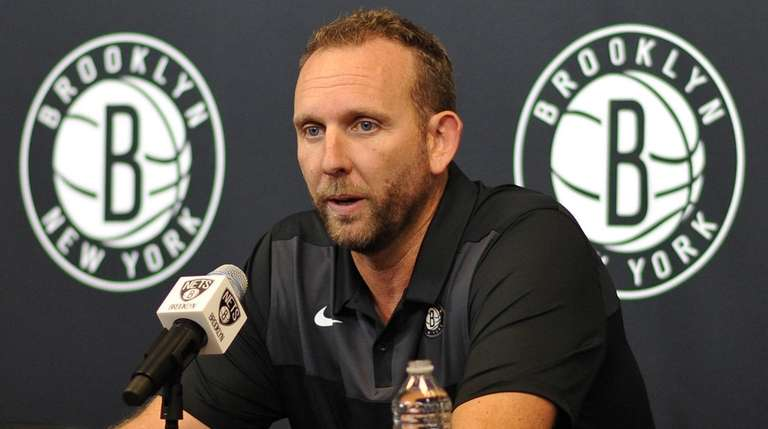 Nets GM Sean Marks speaks with the media