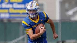 West Islip's Mike La Donna #1 carries the