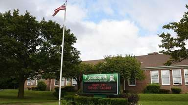 Exterior of Wyandanch School District Administration Building, Tuesday