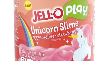 JELL-O Play Edible Slime comes in strawberry and