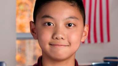 Griffin Hon, 12, a seventh-grader at H.B. Thompson