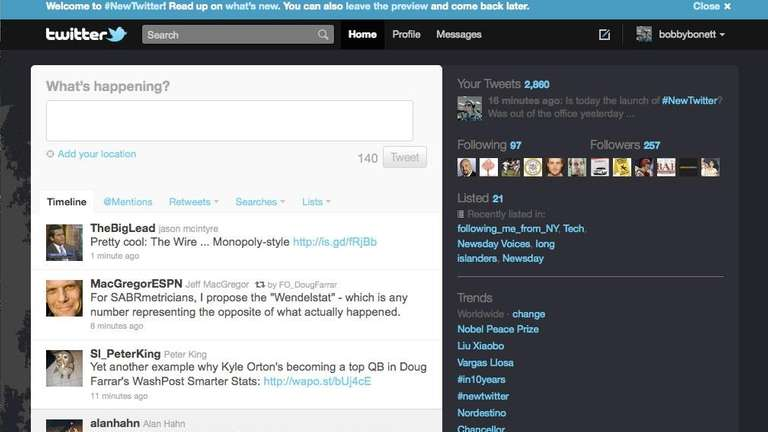 Screenshot of Twitter.