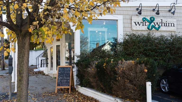 Wit & Whim beckons shoppers in Port Washington.