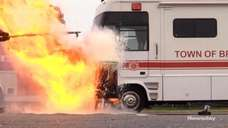 On Thursday, Brookhaven Town officials demonstrated the dangers of