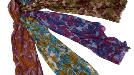 These floral scarves are featured at the Bindya