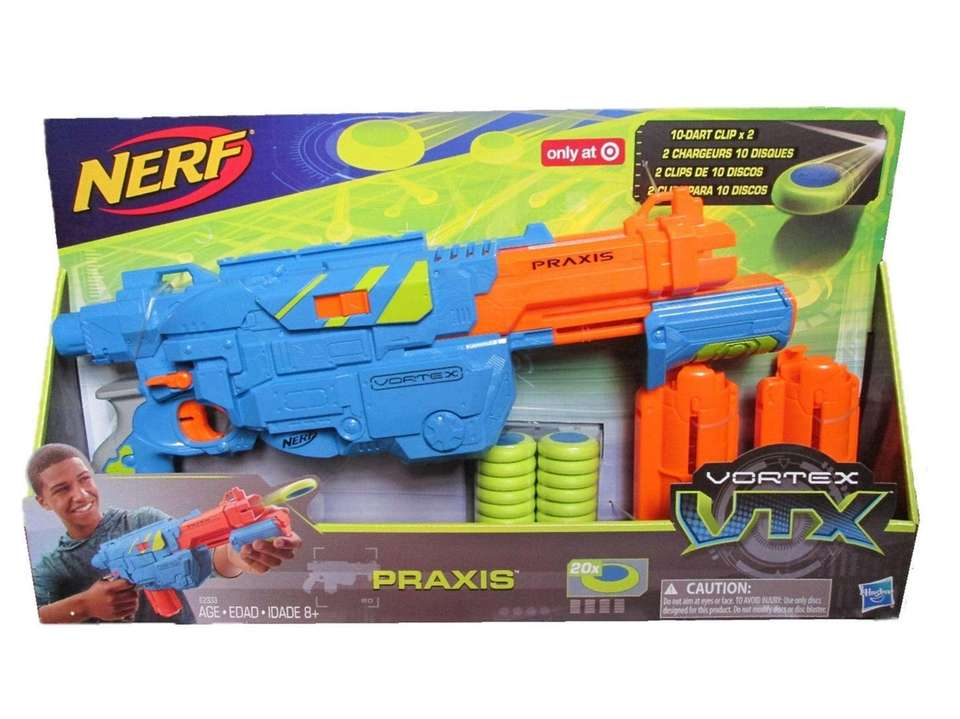 The VTX Praxis Blaster has an age recommendation