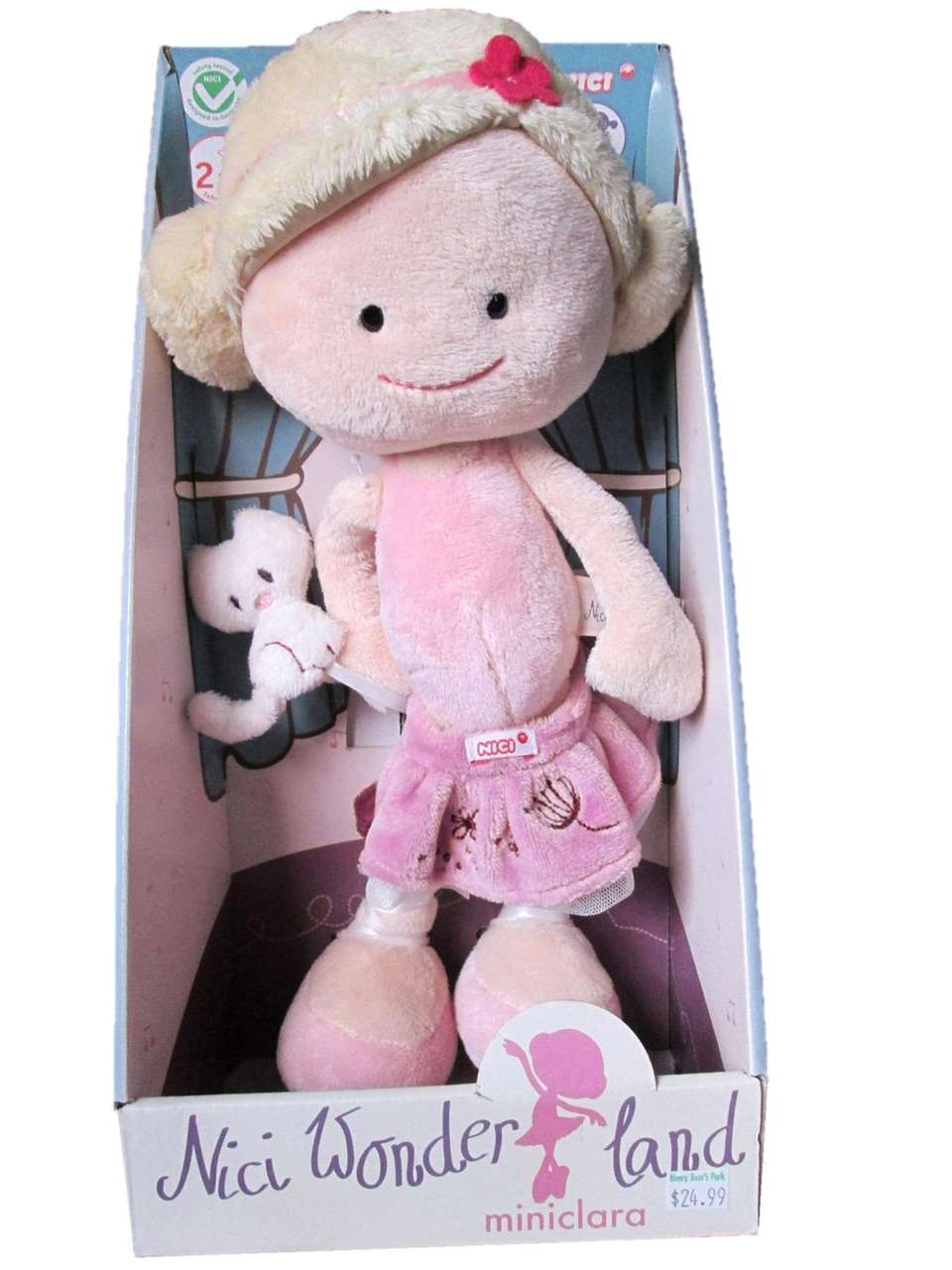 The doll comes with an age recommendation of