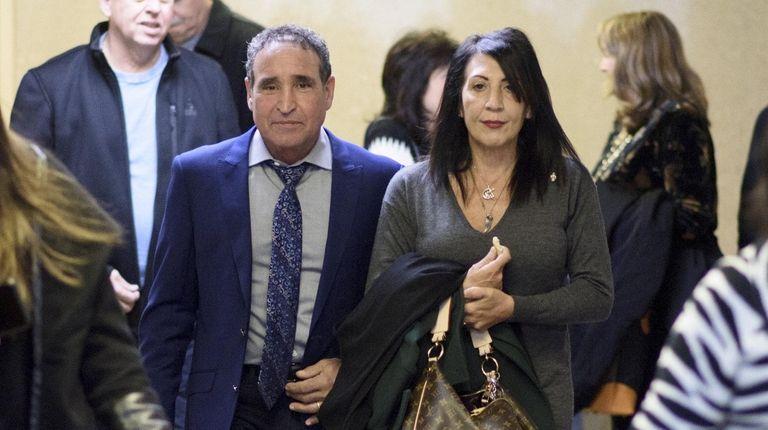 Philip and Catherine Vetrano arrive at state Supreme