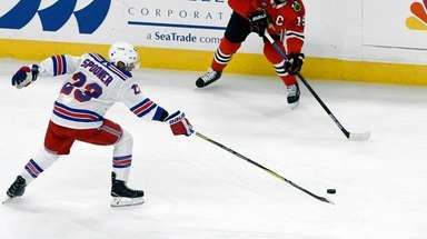 New York Rangers center Ryan Spooner (23) and