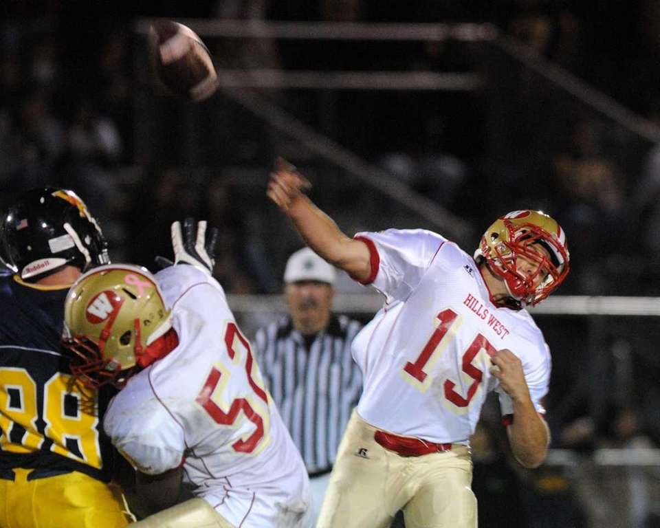 Half Hollow Hills West High School quarterback #15