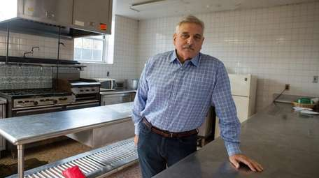 Joe Anfora in the kitchen of the Holy