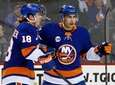 Anthony Beauvillier of the Islanders celebrates his first-period
