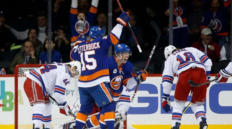 f68231dca2a Anthony Beauvillier s hat trick paces Islanders past Rangers
