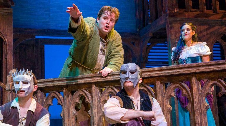 Colin Anderson plays Quasimodo and Gina Naomi Baez