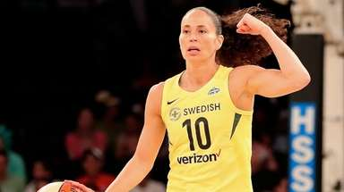 Seattle Storm's Sue Bird calls the play at