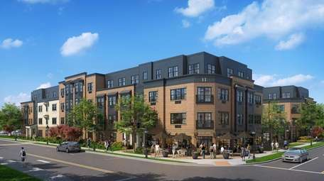 A rendering of Maple Avenue Lofts, a 90-unit