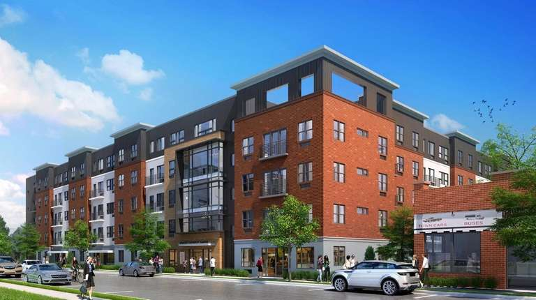 A rendering of North District Lofts, a 90-unit
