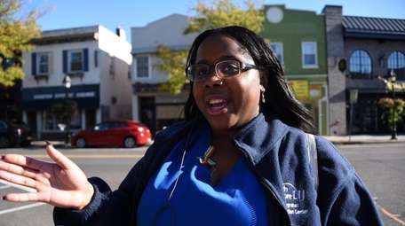 Rhea Morris in Bay Shore on Oct. 25.