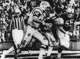 New York Jets' quarterback Joe Namath (12) sweeps