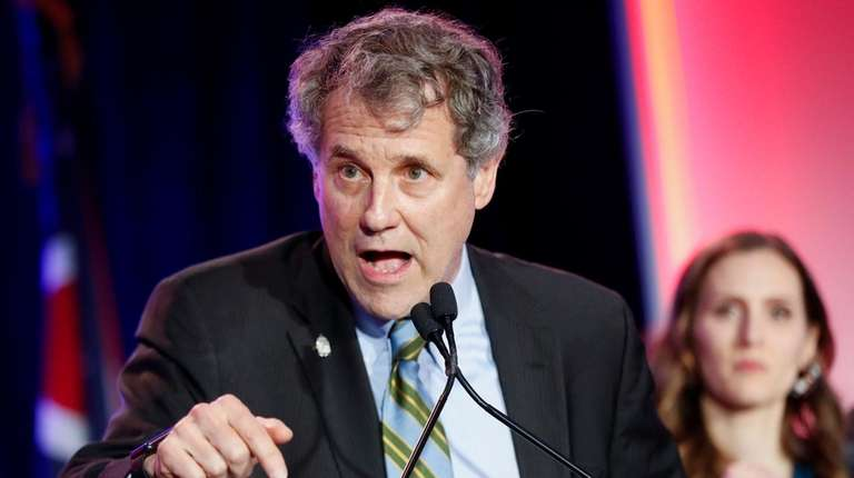 Sen. Sherrod Brown (D-Ohio) speaks in Columbus, Ohio