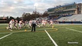 Garden City quarterback/defensive back Colin Hart and running