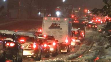 An unexpected amount of snow caused major traffic