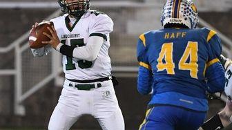 Lindenhurst's Michael Varela looks to pass the ball