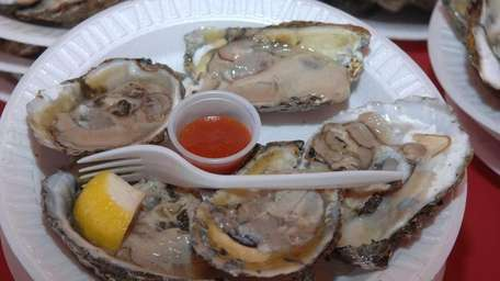 A plate of oysters at the 2007 annual