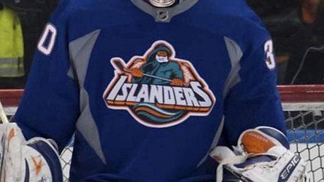 Islanders goalie Chad Johnson wears the infamous