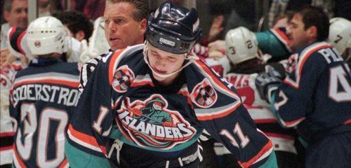Islanders defenseman Darius Kasparaitis was one of the