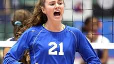 Long Beach's Emma McGovern reacts to play during