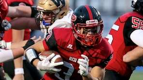 Plainedge RB Dion Kuinlan hits the hole and