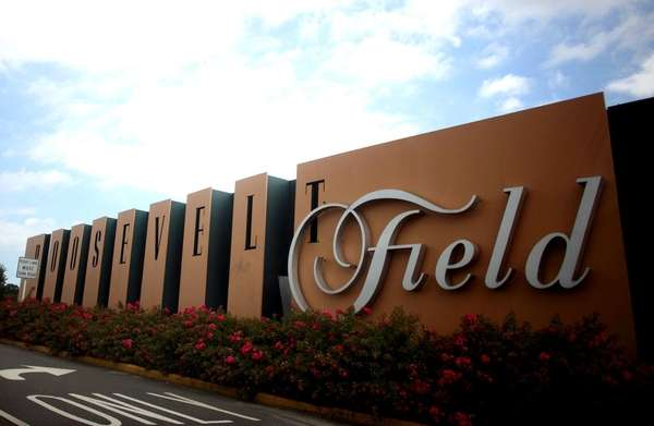 The exterior of Roosevelt Field mall in East