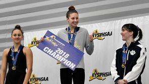 Northport's Chloe Stepanek gives a thumbs up after