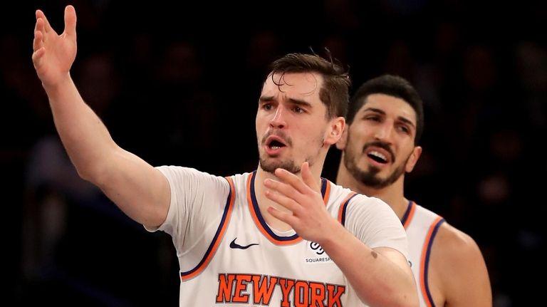 Mario Hezonja of the New York Knicks at