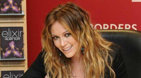 Singer Hilary Duff promotes