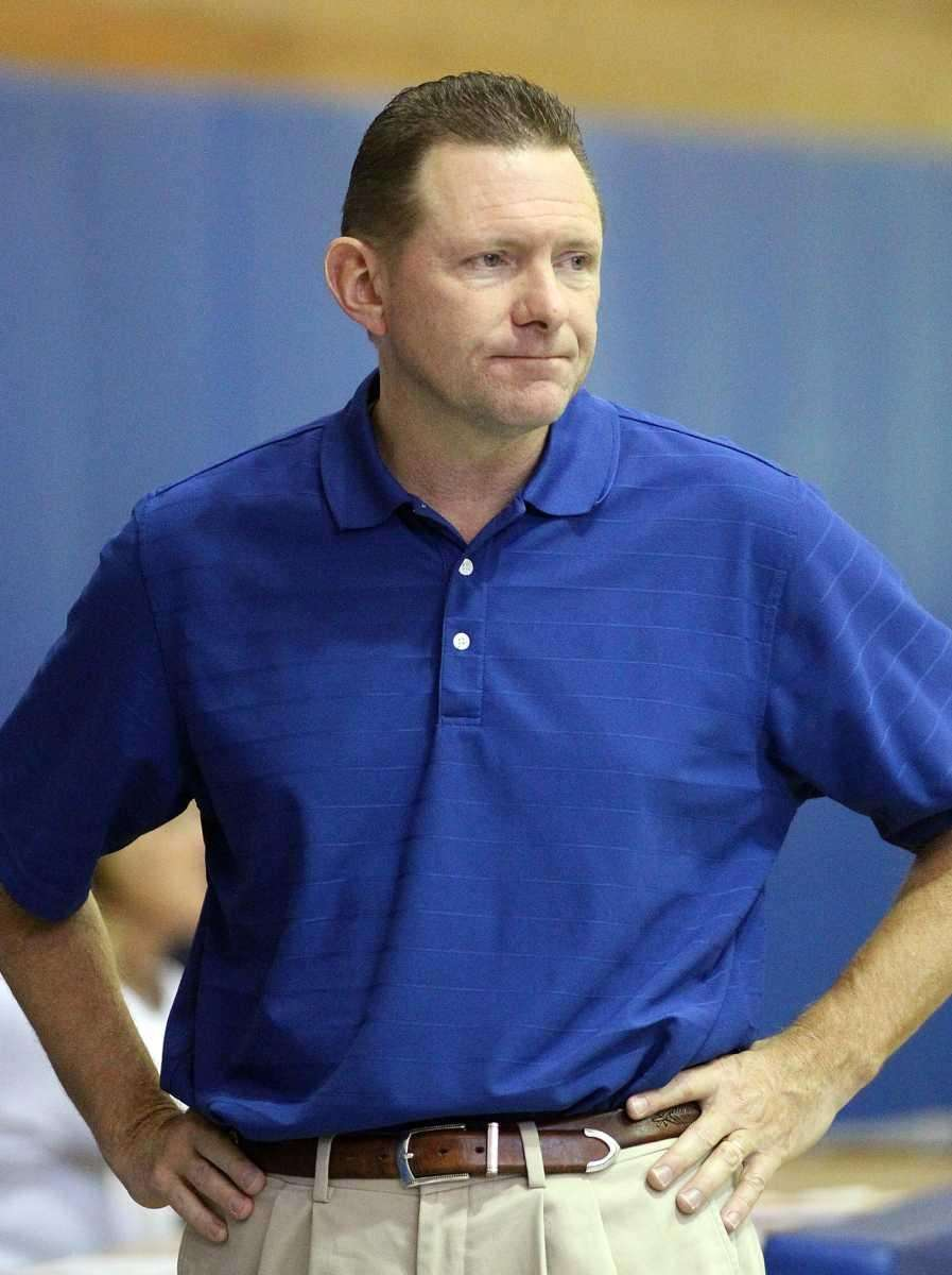 John Glenn girls volleyball head coach Kevin Harrington.